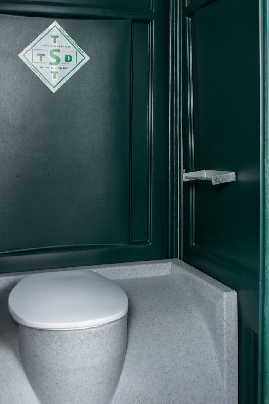 Mobiele toiletcabine binnenkant toiletpapier houder